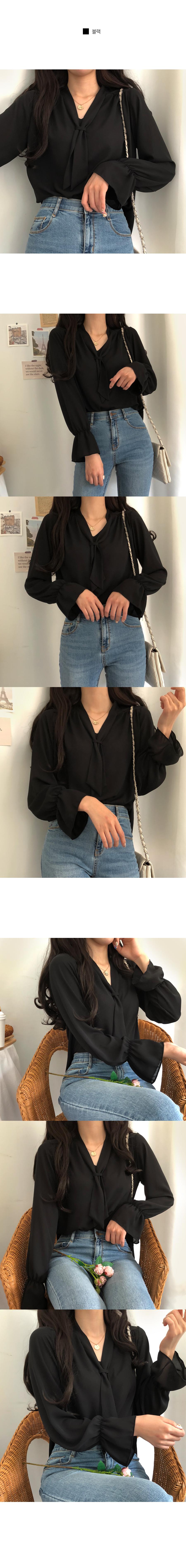 Xavier scarf blouse