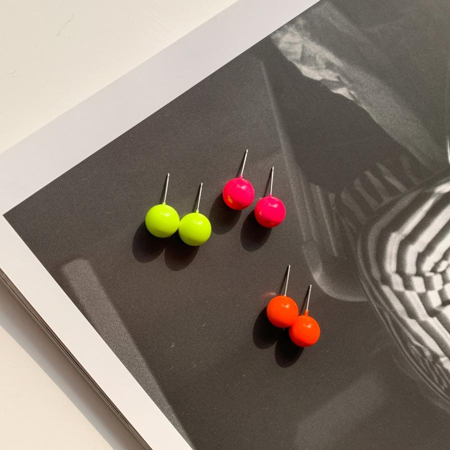Neon Mini Bubble Earrings