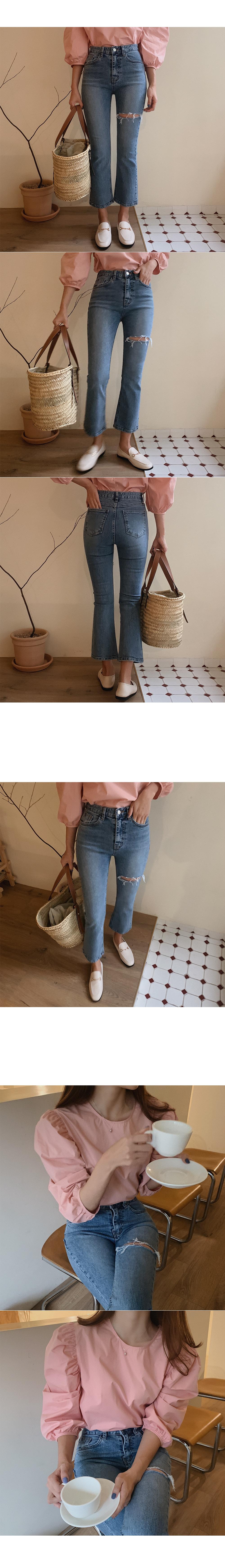 Narine puff blouse