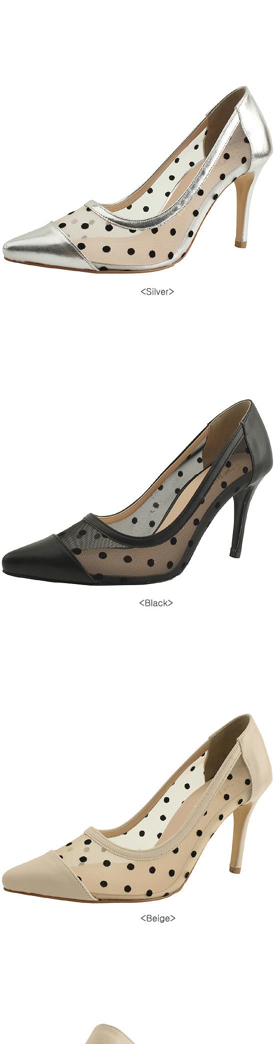 Lace stiletto high heels 9cm silver