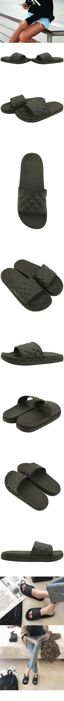 Plaid bote slippers black