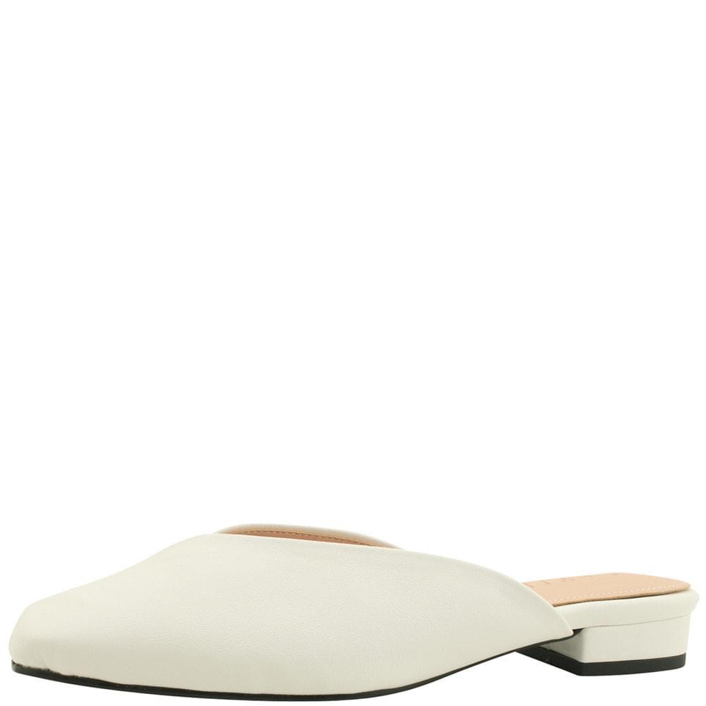 Square Toe Simple Flat Blower White