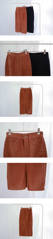 300 corduroy long skirt