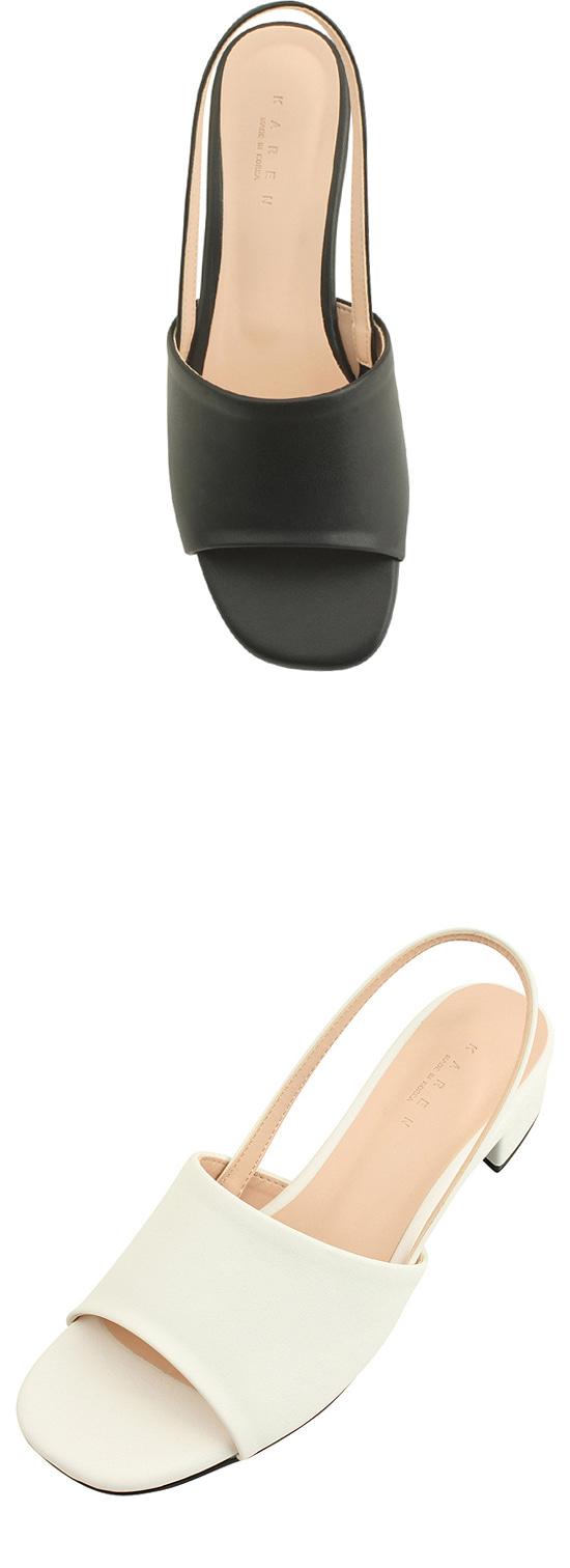 Slingback Low Heel Toe Open Sandals Black