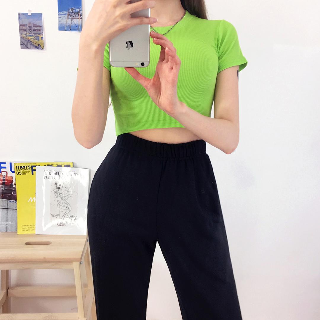 Plain Golgi Crop T-Shirt