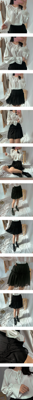 Sharp mini cancan skirt