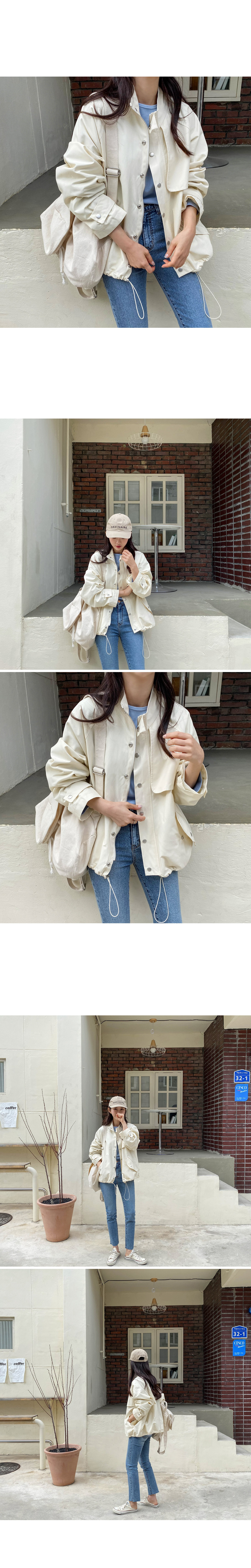 Selection Trench Field Jacket -Beige Same Day Shipping