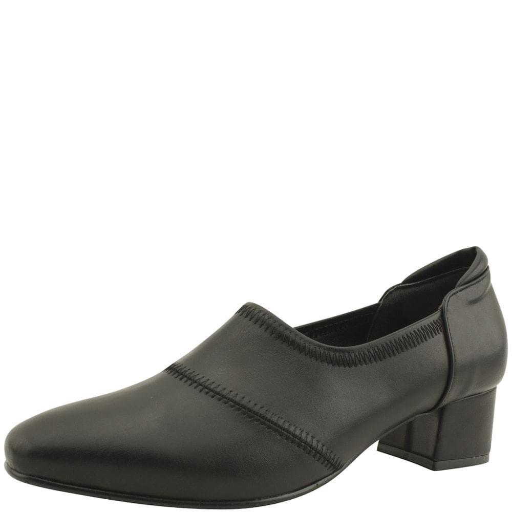 Stiletto Booty Middle Heel Pumps Black