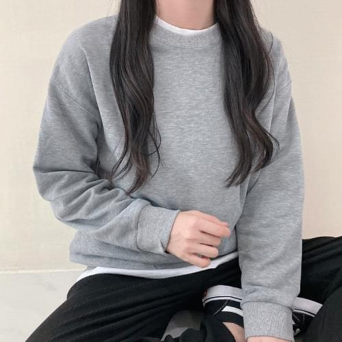 Loose Fit Daily Plain Sweatshirt T#YW681