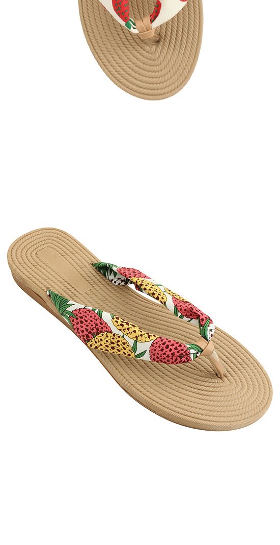 Pineapple Printed Fabric Slippers