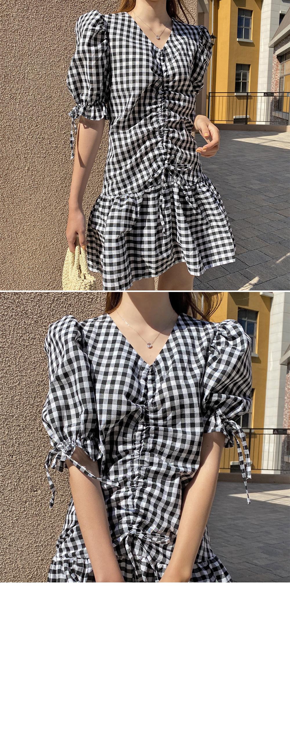 Lovely Shirring Dress