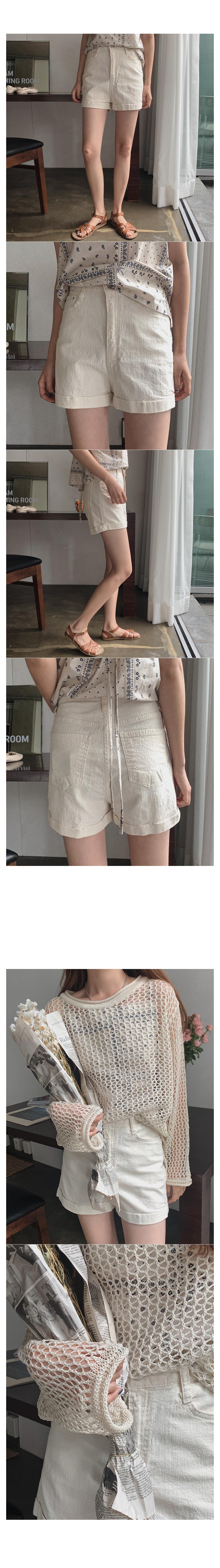Nozzle linen short pants