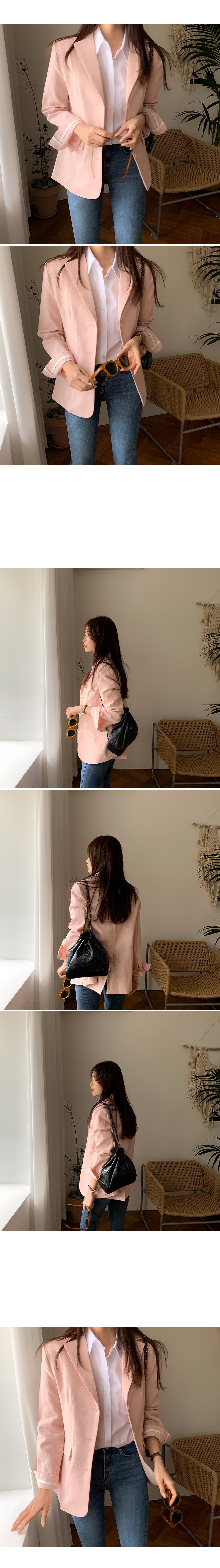 Shake Linen Single Jacket