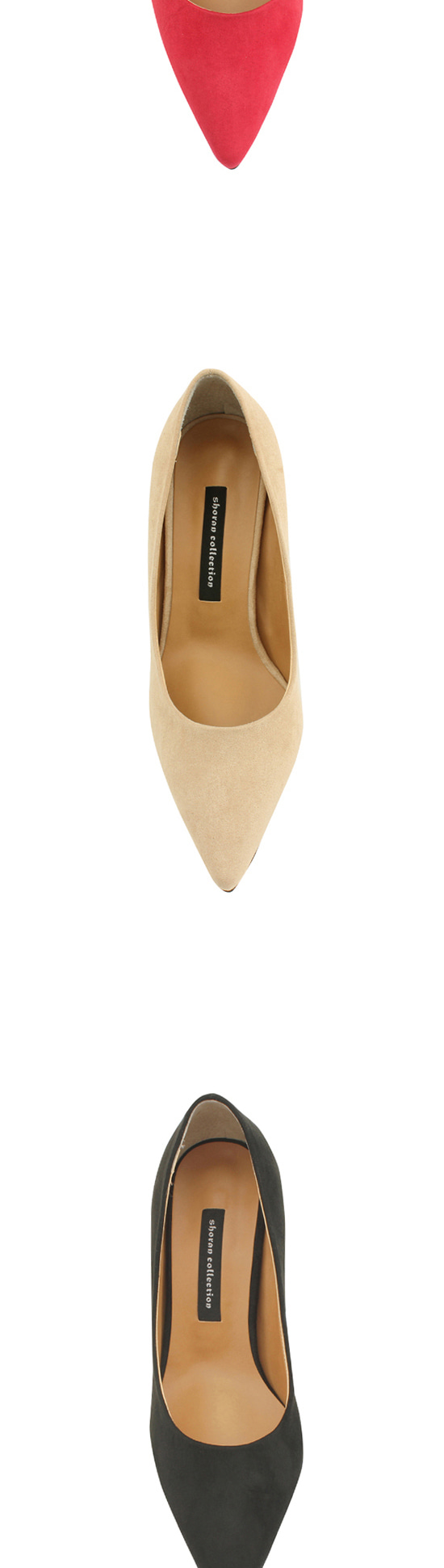 Suede Pointed Nose High Heels 7cm Jean Beige