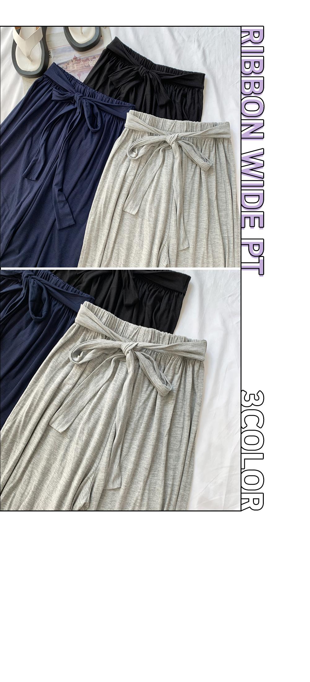 Ribbon High Thong Pants