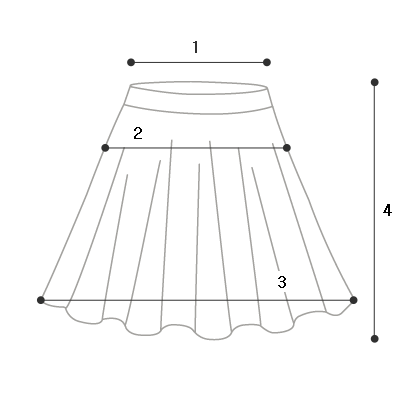 Linen wrapping flared skirt