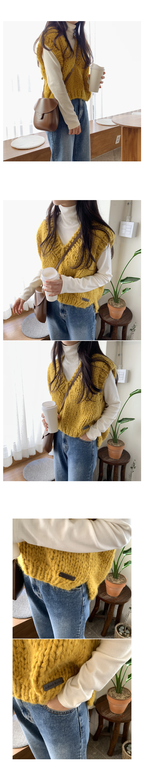 Oz Handmade Knit Vest-Butter Beige