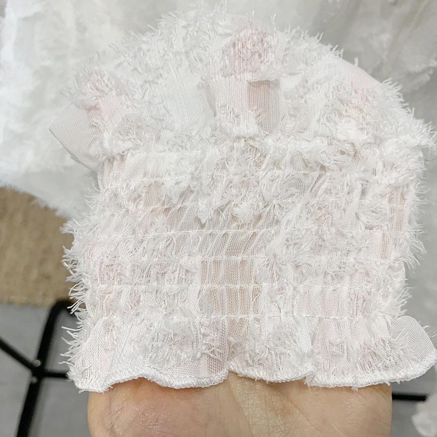 Barneys punching lace blouse