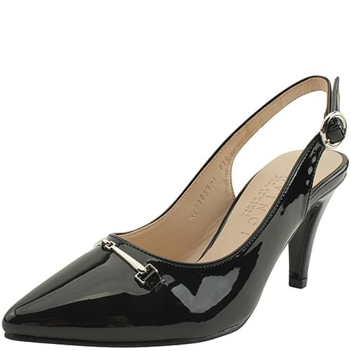 Stiletto slingback high heels black
