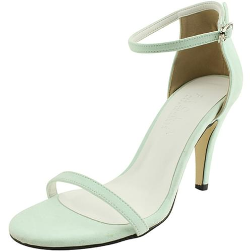 Pastel strap high heel sandals mint