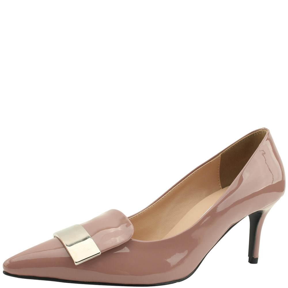 Chic metal stiletto high heels pink
