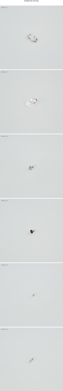 6 figure silver earring set