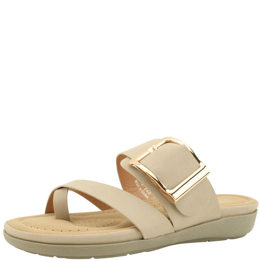 Soft Cushion Flip-Flop Slippers Beige