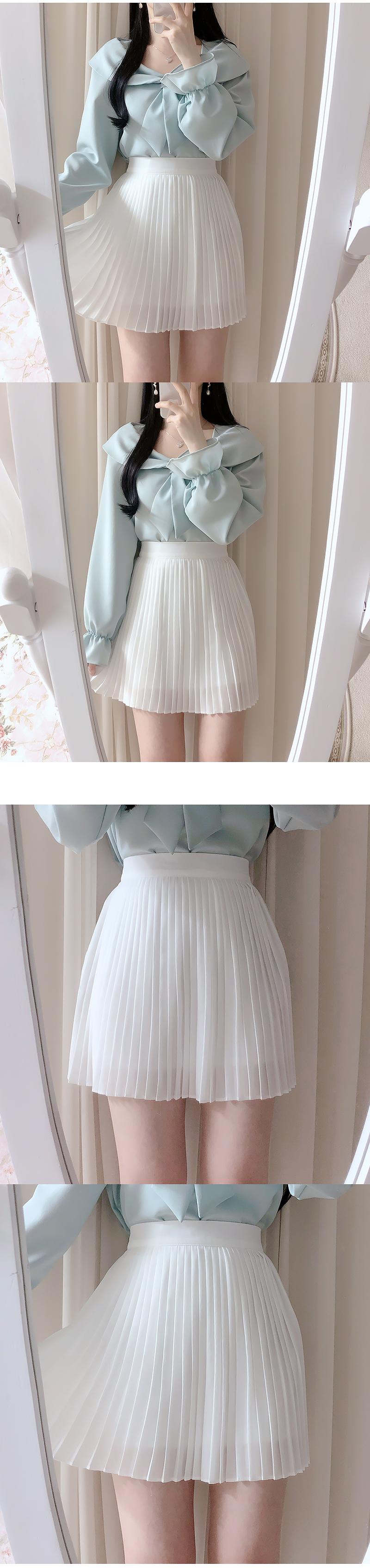 Lady pleated skirt
