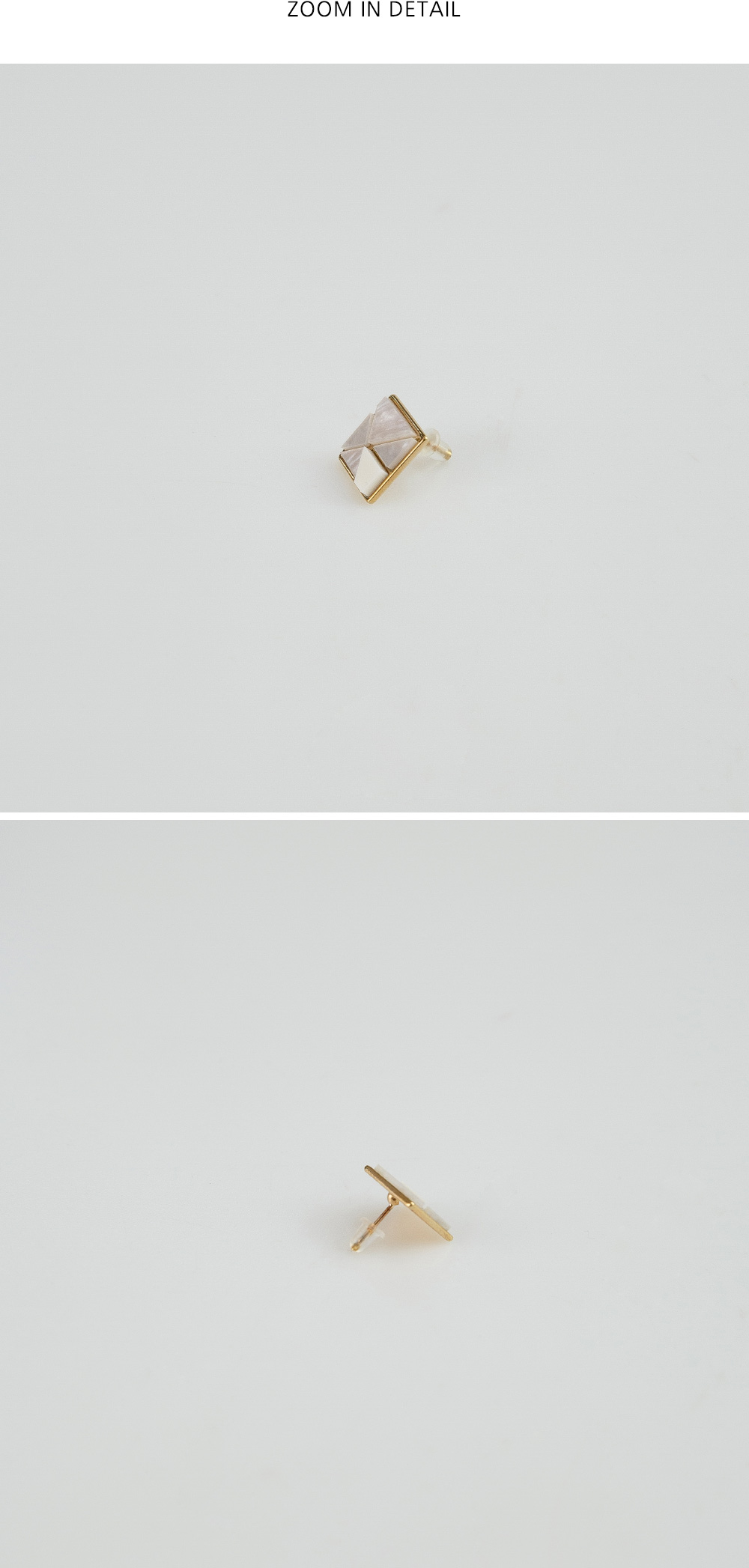 square gold line earring