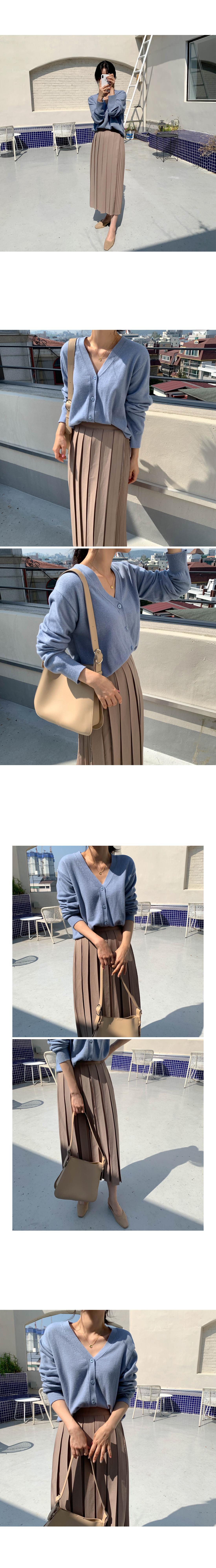 Tok Tok Pleats Wrap Skirt-Brown