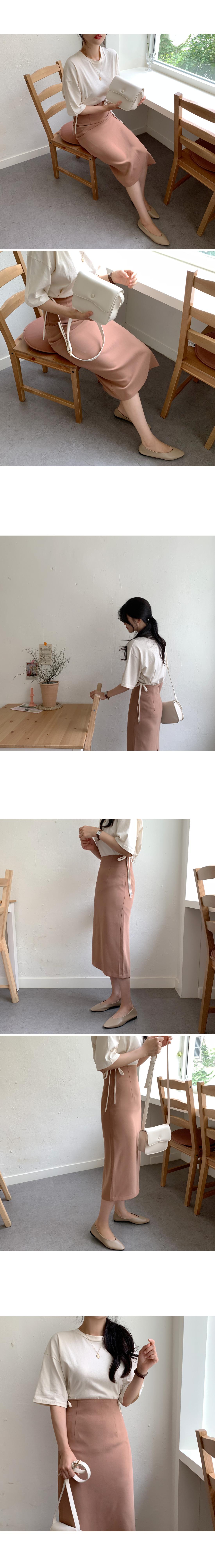 Hayes simple long skirt