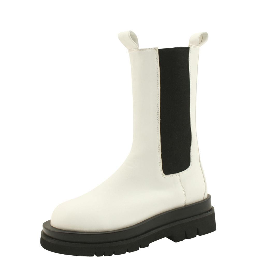 Chelsea Banding Full Heel Middle Walker 5cm White