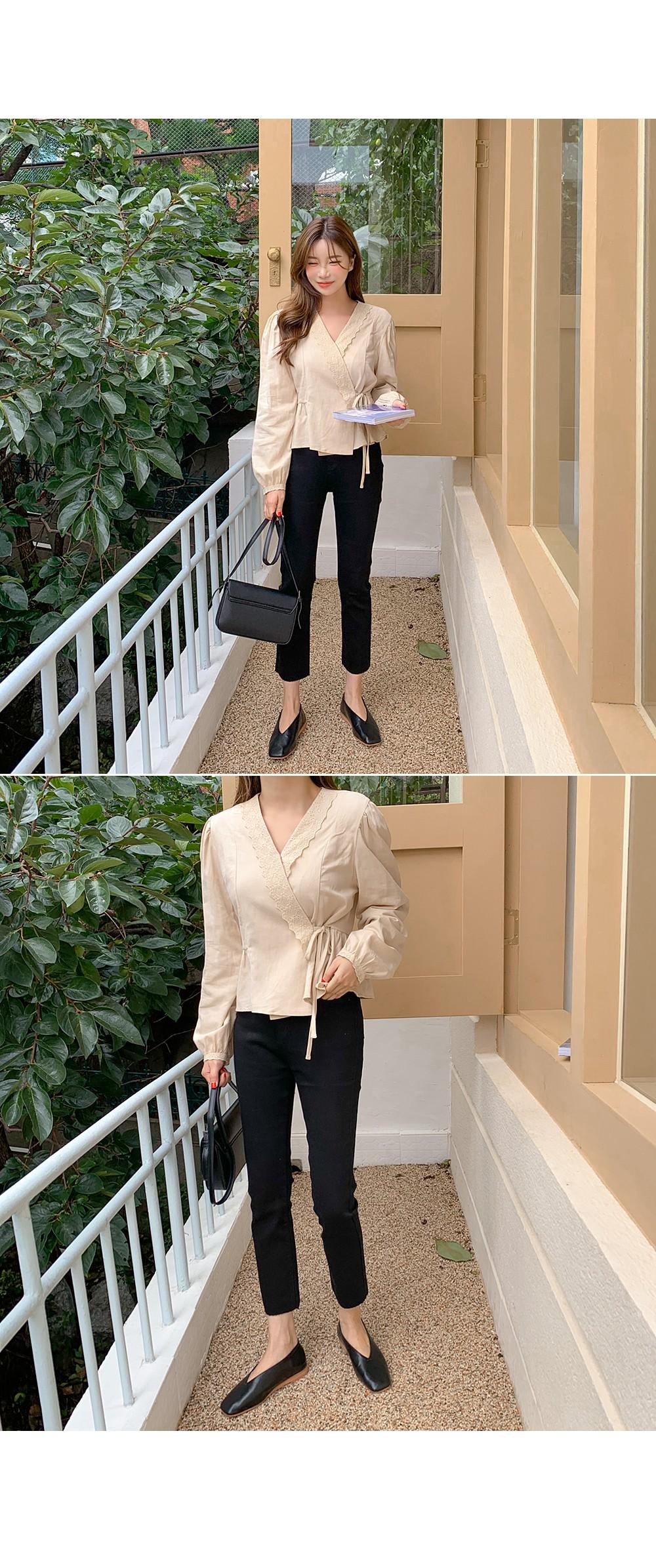 Long Sleeve & Lace Wrap BL