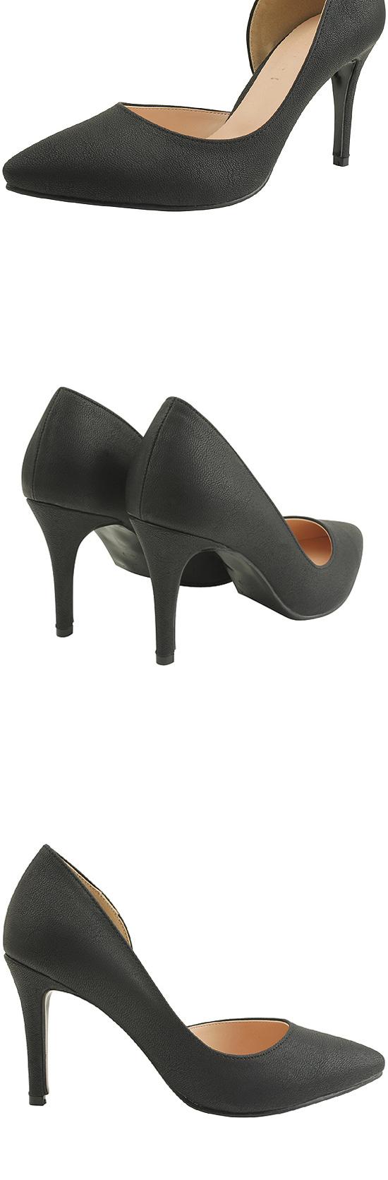 Inside Open Stiletto Heel 9cm Black