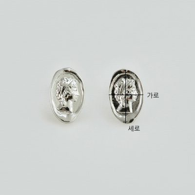 Lady silhouette earrings