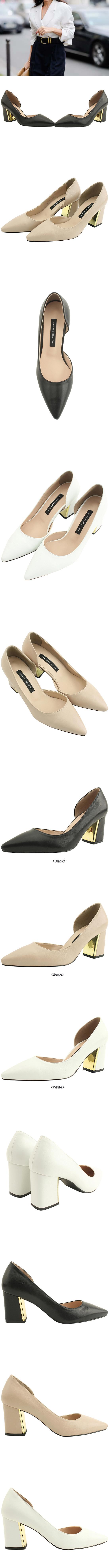 Gold Metal Heel Stiletto Heel 7cm Beige