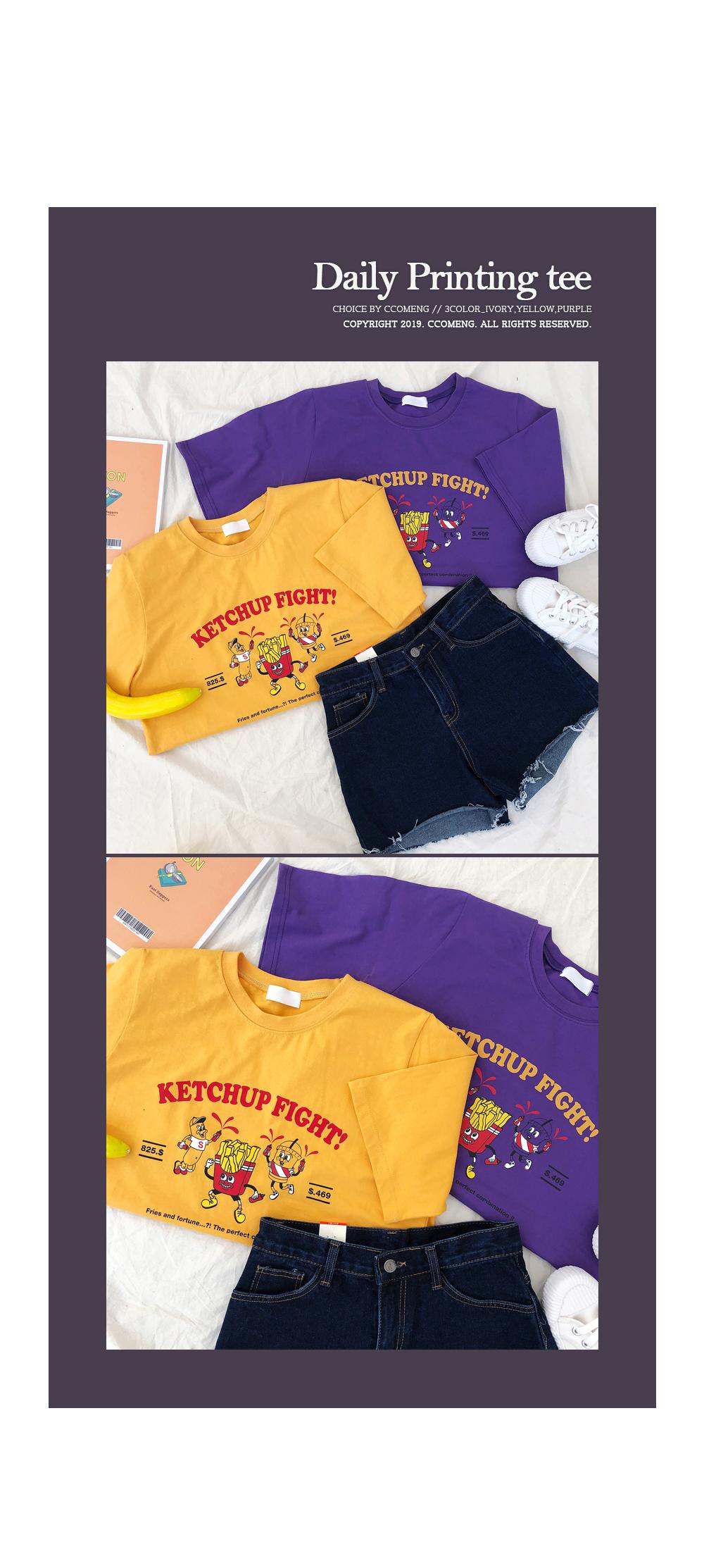 Ketchup Printing Short Sleeve Tee