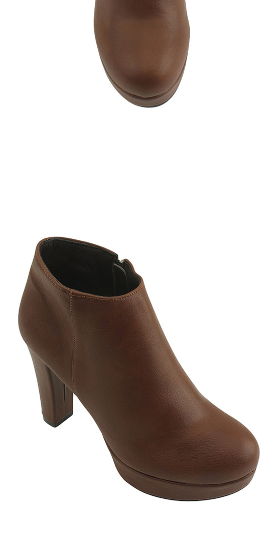 Gabosi High Heel Ankle Boots Brown