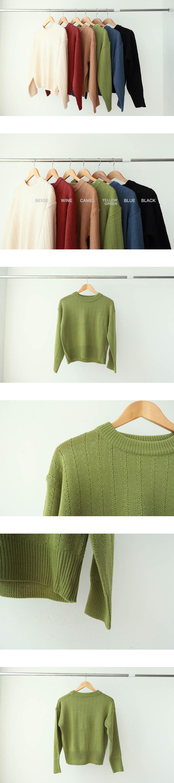 Signature line knit