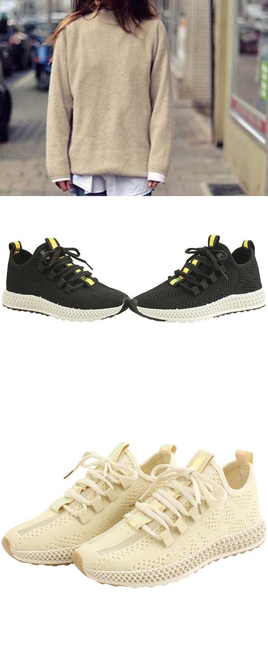 Knit Span Sox Mesh Sneakers Black