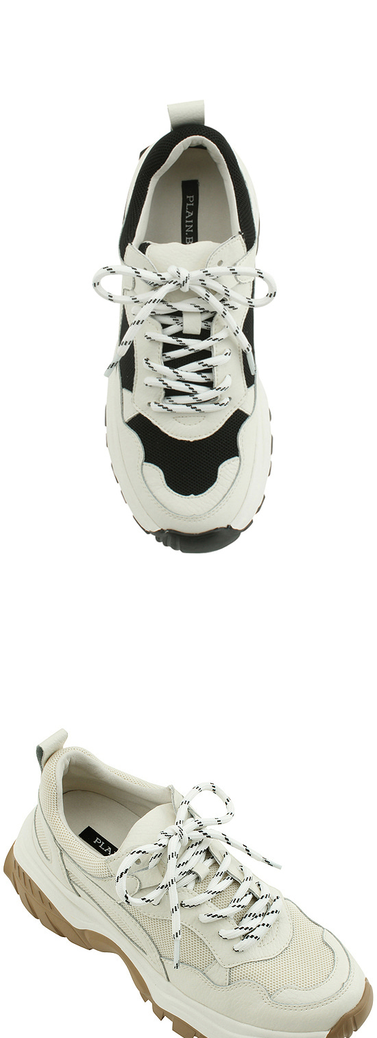 Leather Height Ugly Sneakers Black