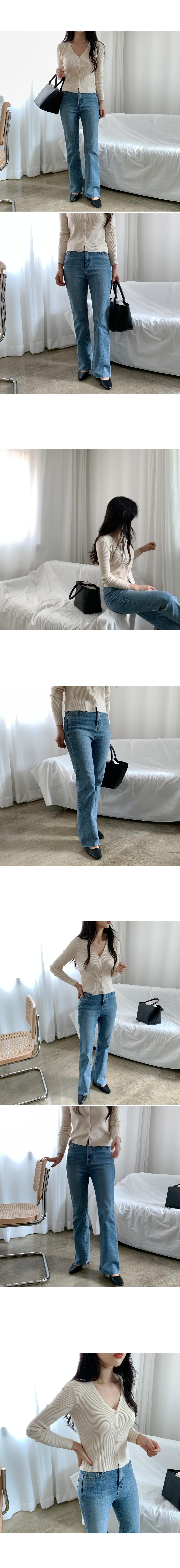 Mile Long Flared Denim Pants-Small, Medium Size