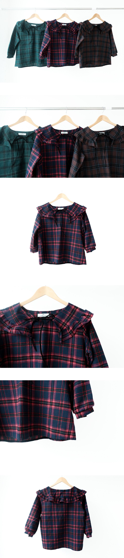 Pure big collar blouse