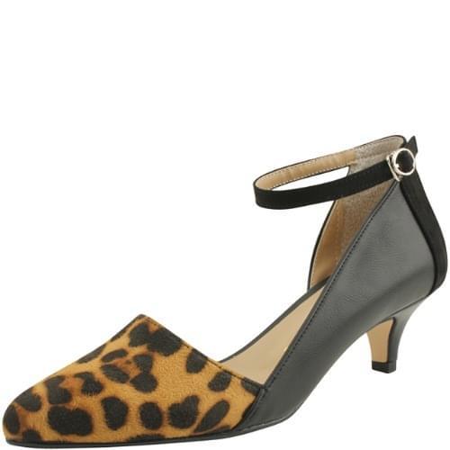 Leopard Stiletto Middle Heel Beige