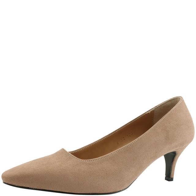 Suede Stiletto High Heel 6cm Beige
