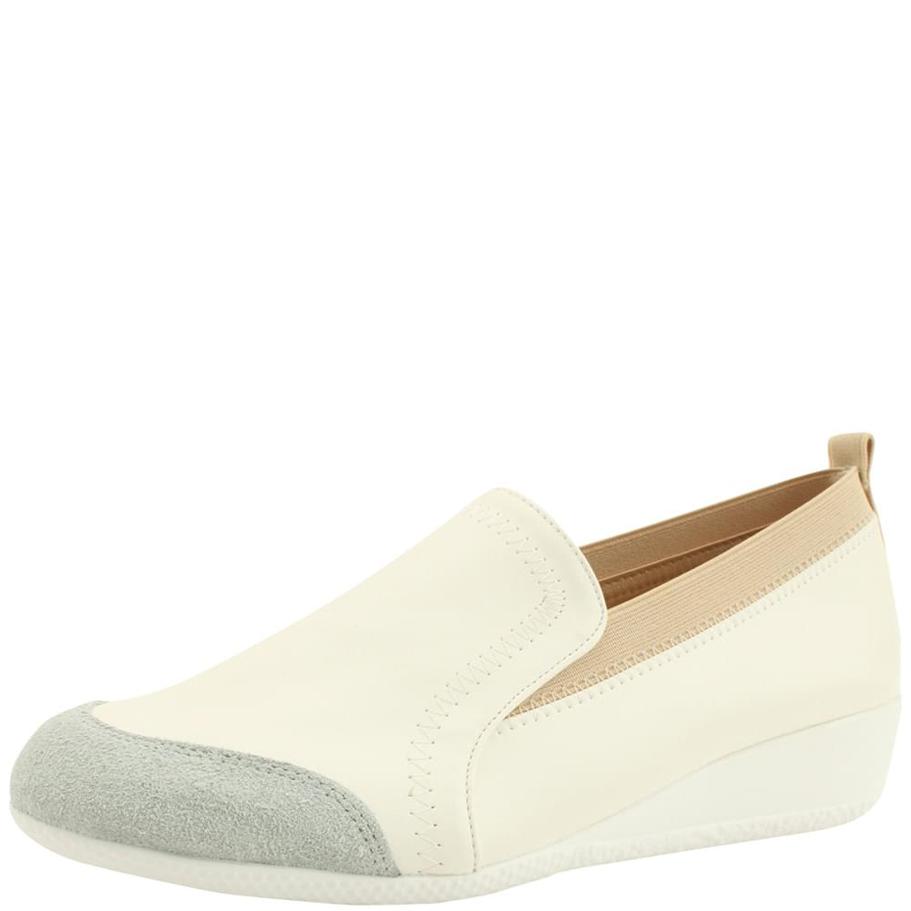 Banding Wedge Height Sneakers White