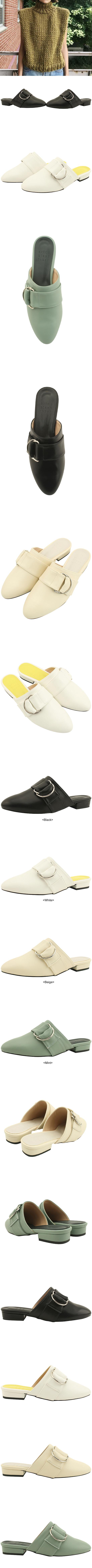 Buckle Strap Flat Blower Black