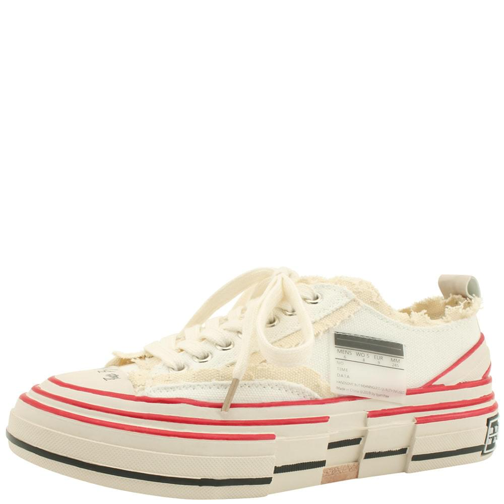 Vintage Faded Unique Sneakers White