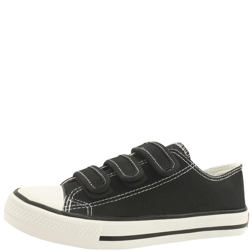 Canvas Three-wire Velcro Sneakers Black