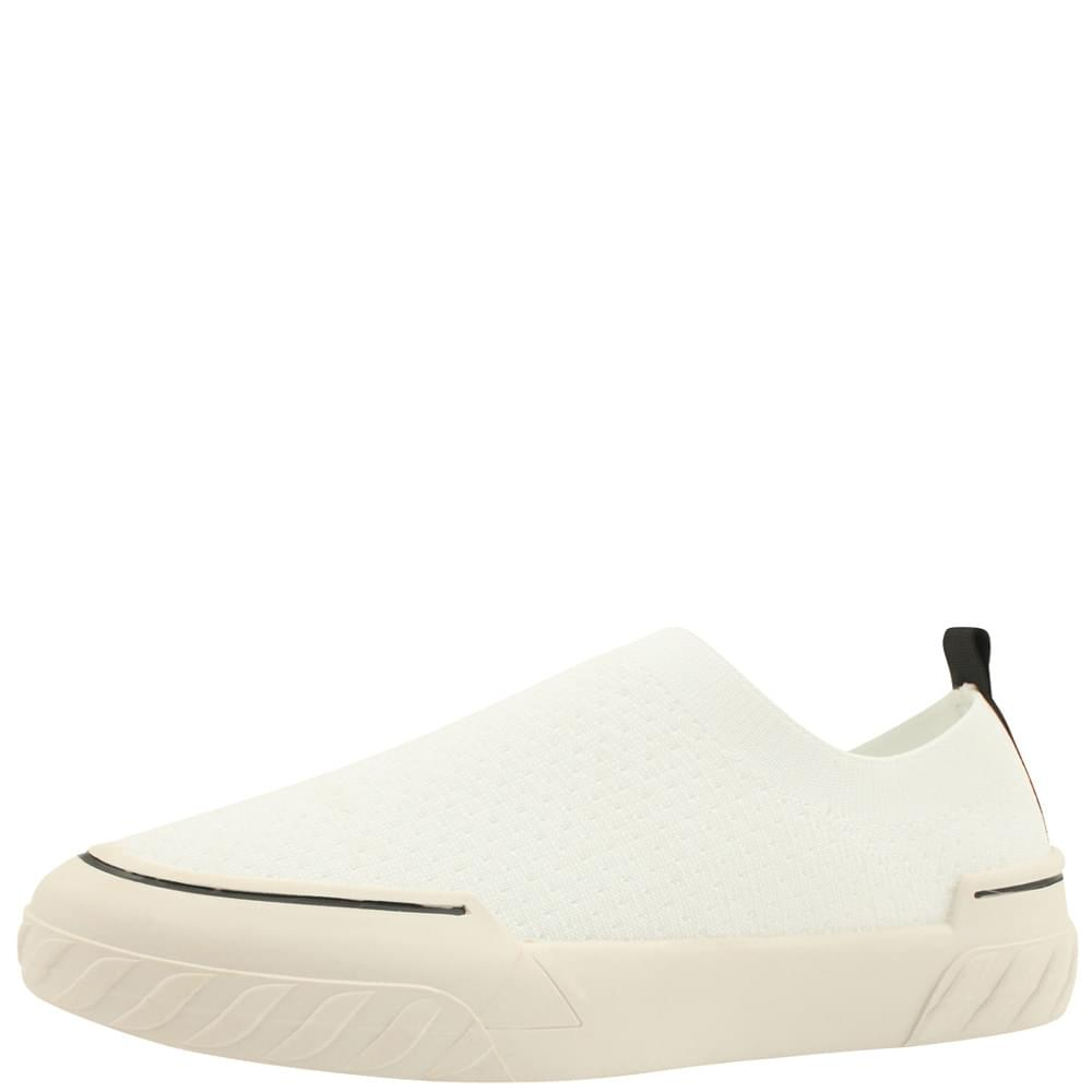 Knit slip-on sneakers white